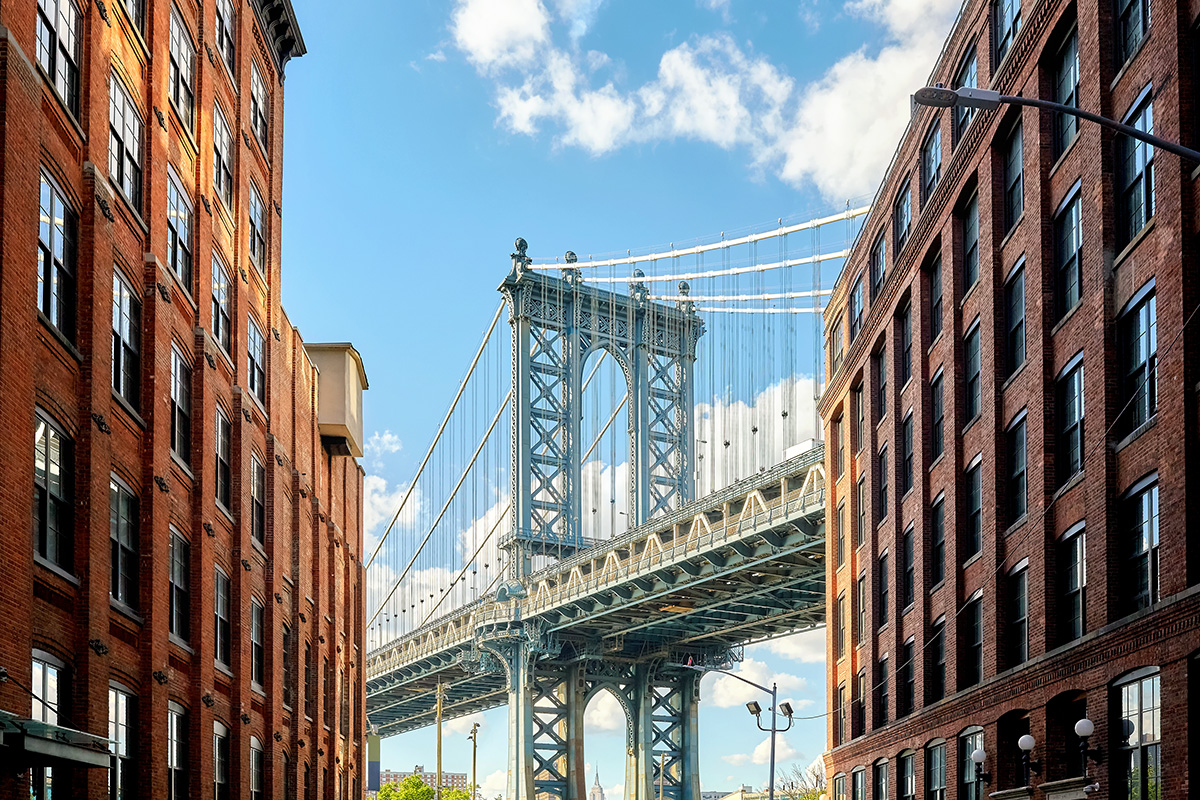 Manhattan Bridge, New York City, von Dumbo aus gesehen (Maciejbledowski, Envato Elements)