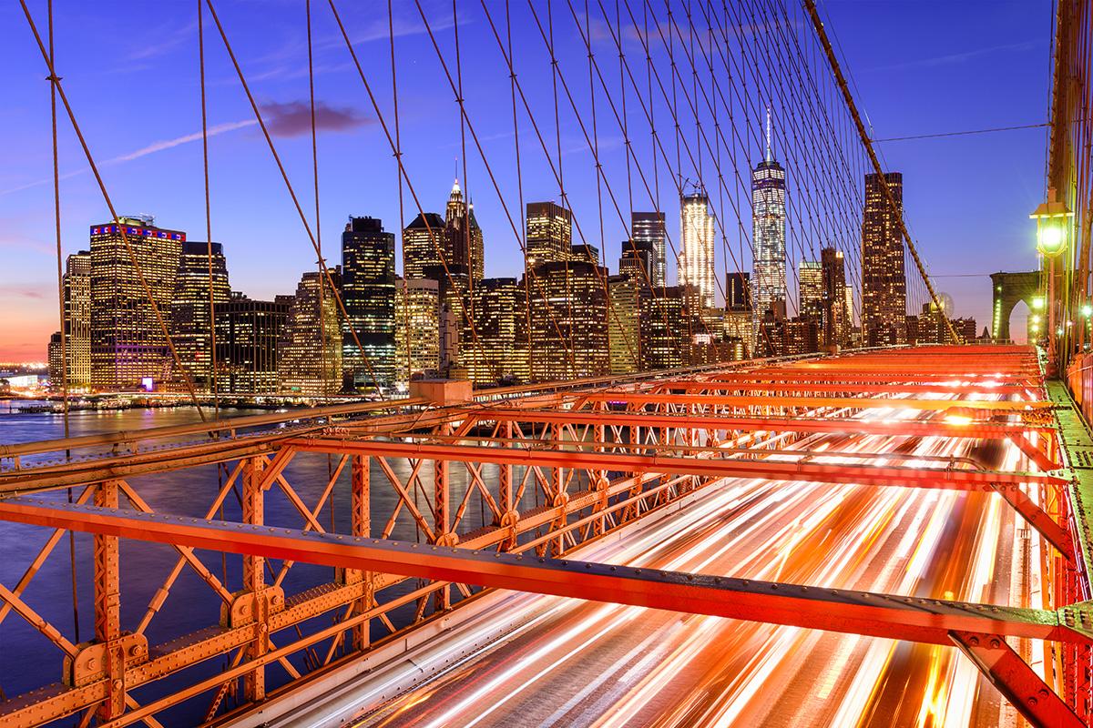 New York City financial district von der Brooklyn Bridge aus gesehen (Foto: SeanPavonePhoto, Envato Elements)